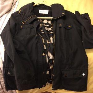 Calvin Klein jacket with zipper hood